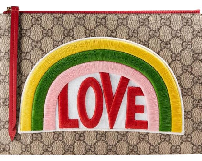Gucci Limited Edition Sold Out Rainbow Soft Gg Supreme Pouch Clutch Gucci Limited Edition Sold Out Rainbow Soft Gg Supreme Pouch Clutch Image 1