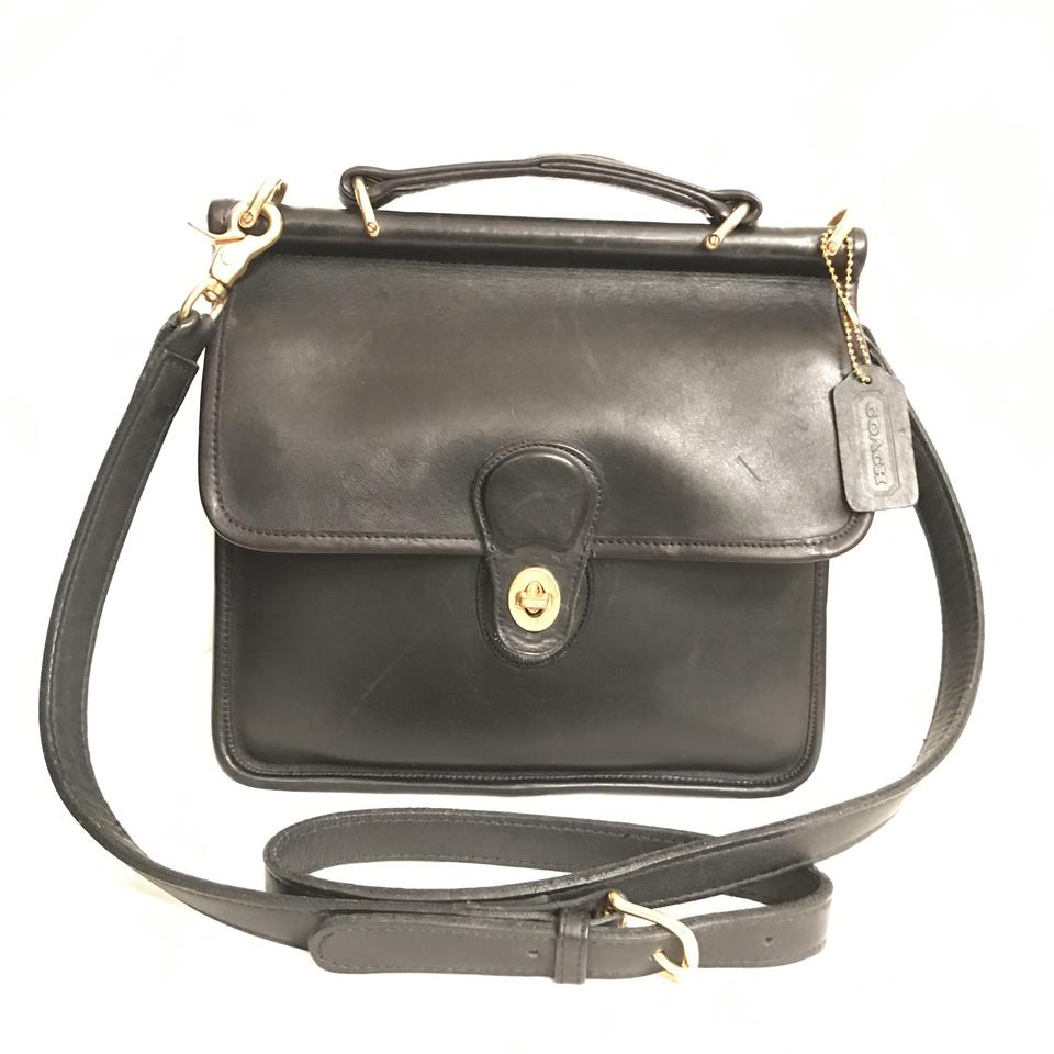 195593fe1e901 france coach purse handbag cross body vintage shoulder satchel in black  gold cd927 9791f