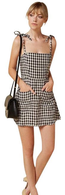 Item - Black and White Gingham Jilly Short Casual Dress Size 4 (S)