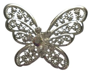 Silver-plated Butterfly Pins (Set Of 4) Hair Accessory