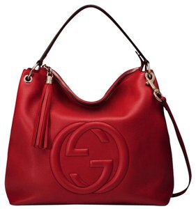 cc357d11f Gucci Hobo Bag. Gucci. Soho Red Leather ...