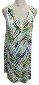 J. Jill short dress Green, Blue, White on Tradesy