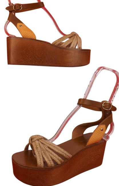 Item - Brown Natural Zia Ankle Strap Wood Heel Sandals Spain Platforms Size EU 39 (Approx. US 9) Regular (M, B)