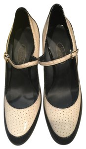 Circa Joan & David Mary Janes Black White Heels Classic Ivory Multi Payent Pumps
