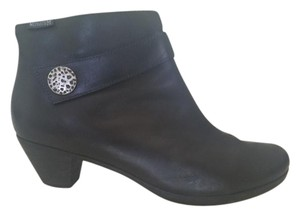 Mephisto Leather Ankle Black Boots