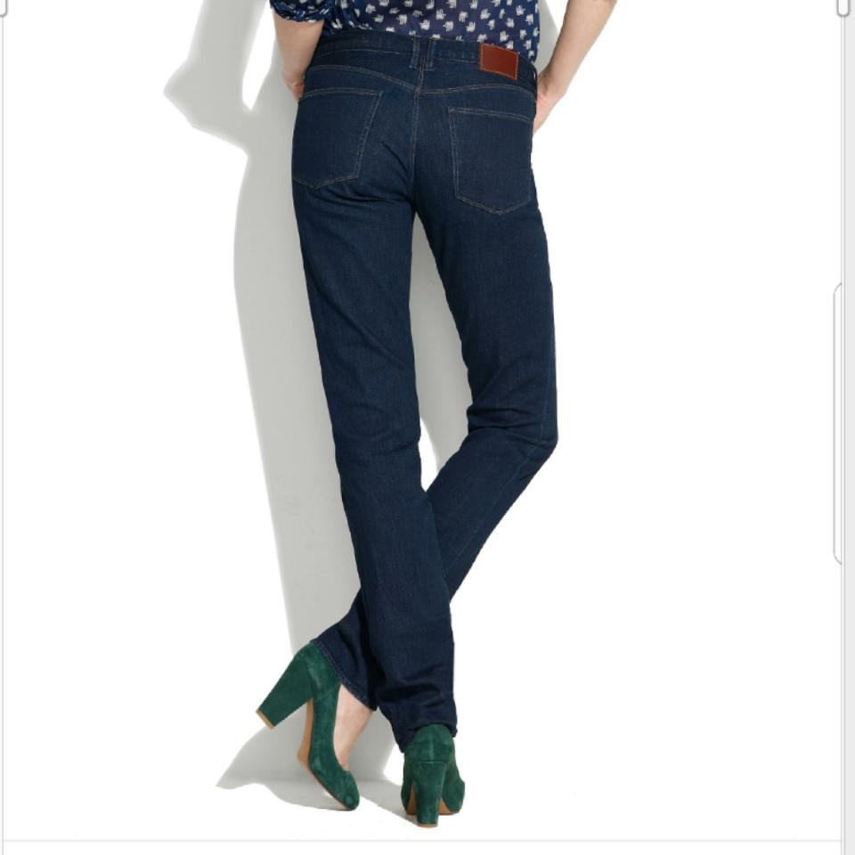 best quality superior quality reputable site Madewell Blue Dark Rinse Rail Straight Leg Jeans Size 25 (2, XS ...