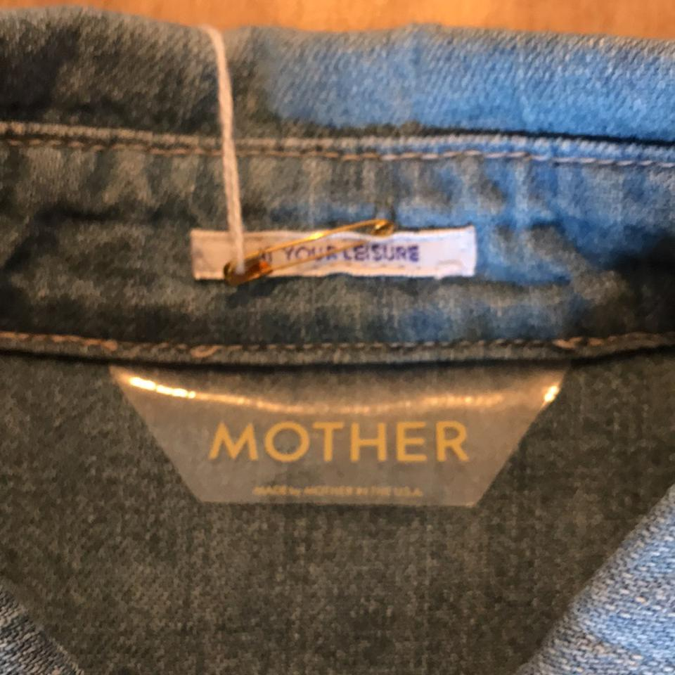 Wash Crop Rn Medium Fray Frenchie Top 133376 Mother Lighter Button Blue down 7qnUxwFXZg