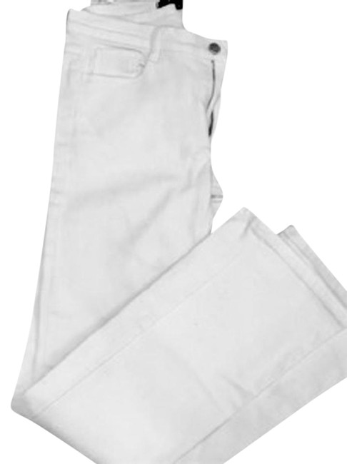 Item - White Light Wash Mid-rise Boot Cut Jeans Size 29 (6, M)
