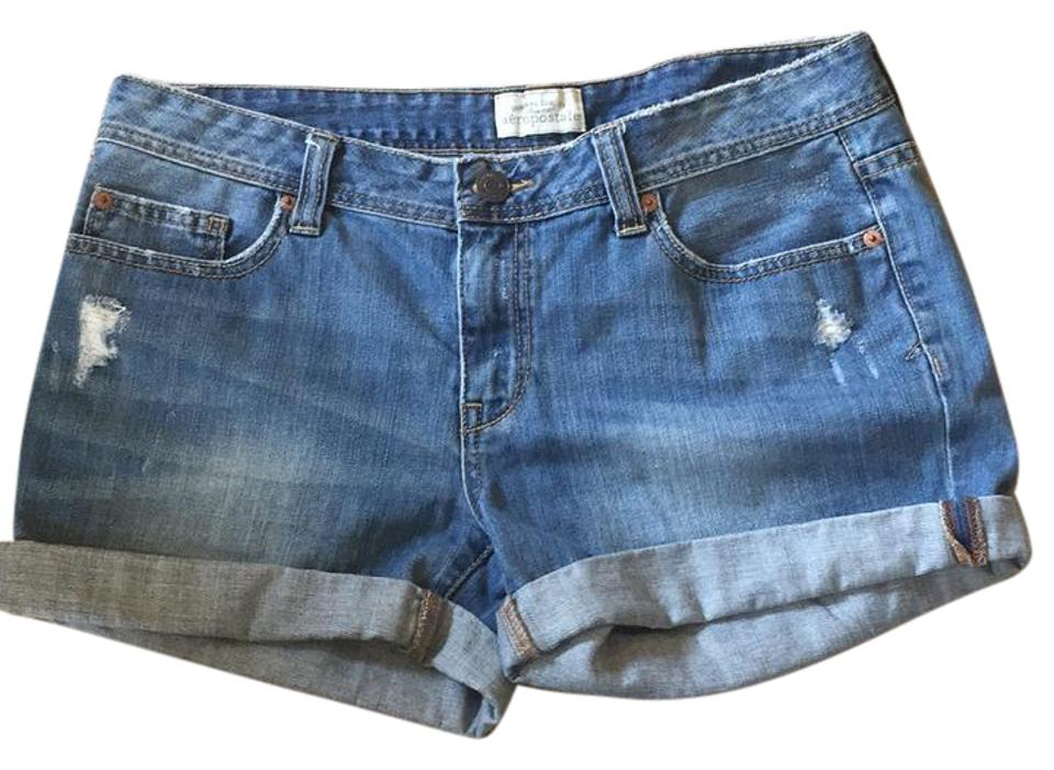 33338e804d Aéropostale Blue Distressed 0426au11 Denim Shorts Size 34 (12, L ...