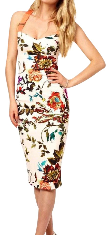 8594d5210 Ted Baker Floral Amabel Bodycon Night Out Dress. Size  4 (S) Length  Mid- Length ...