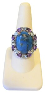 "Colleen Lopez Colleen Lopez ""Arizona Sky"" Turquoise, Amethyst Ring Size 8"
