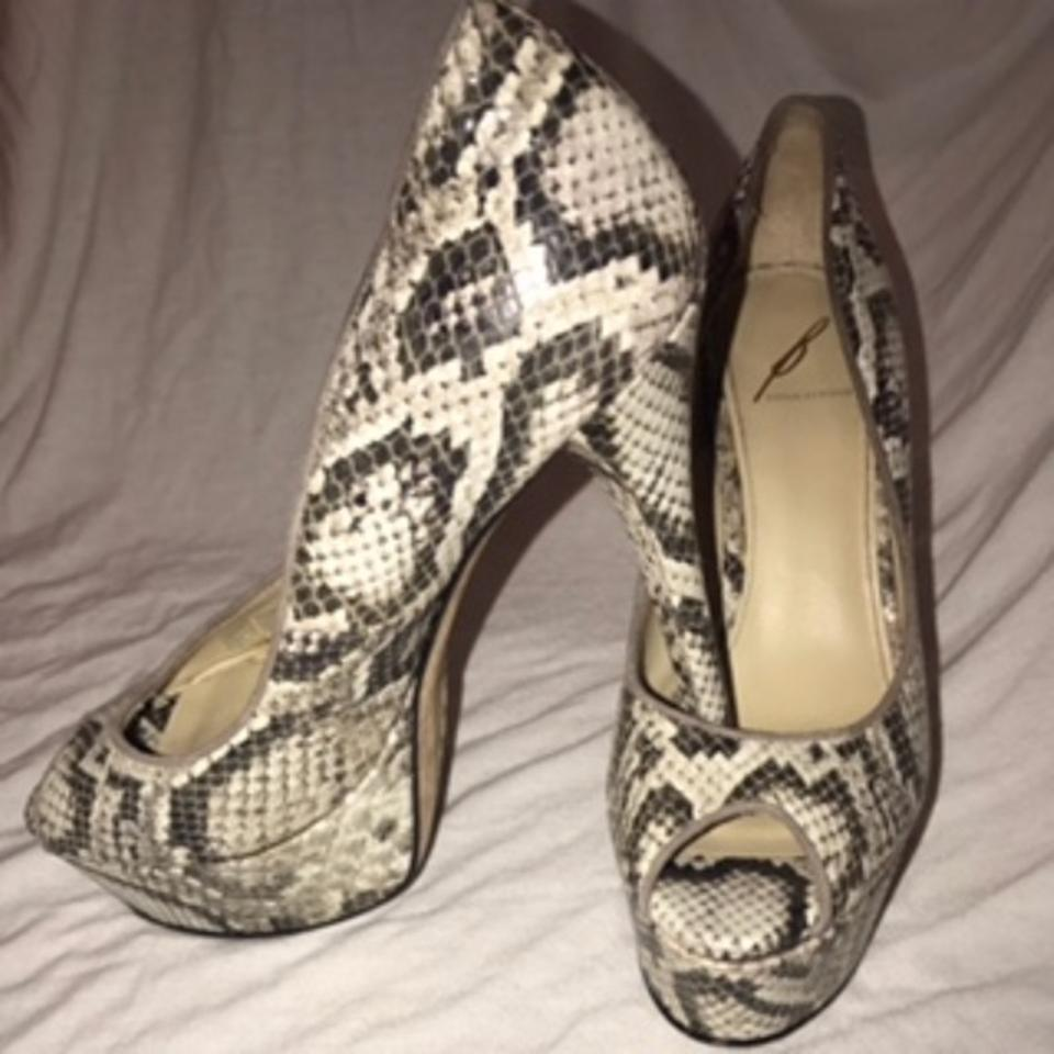 908284242a2 Brian Atwood Snakeskin Bambola Peep-toe Pumps Size US 8 Regular (M, B) 89%  off retail
