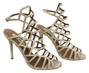 Steve Madden Suede Caged BLUSH NUBUCK LEATHER Sandals