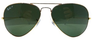 c14044b385d Ray-Ban Dark Green Lenses Gold Frame 3025 Aviator Very Large Lens 62 ...
