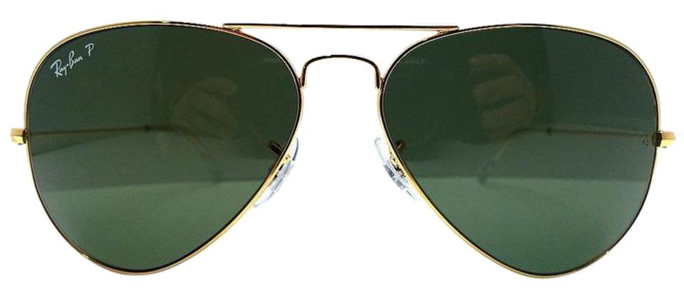 12b1f14888b Ray-Ban Ray-Ban RB 3025 Aviator Very Large Lens 62 mm Green Polarized ...