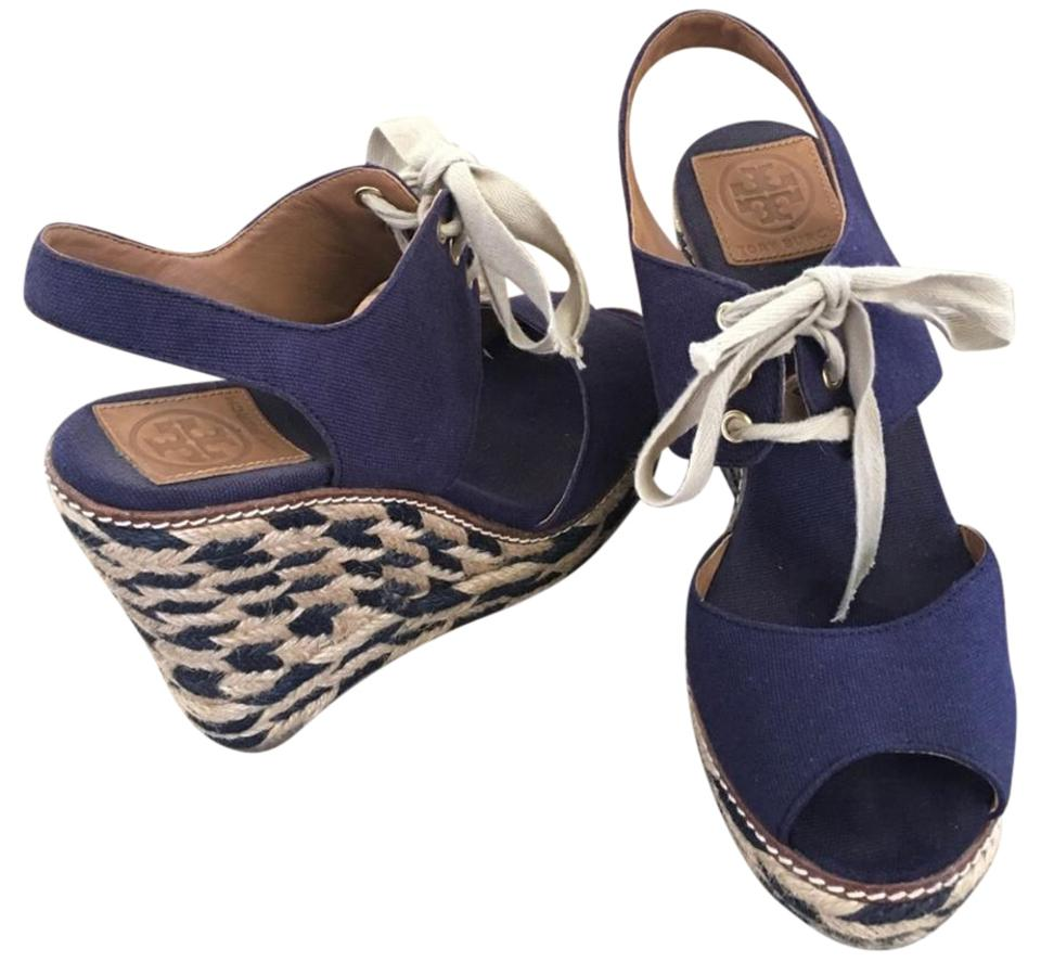 ladies Tory Burch Navy K Wedges Strong Strong Strong value fb39b0
