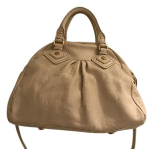Marc by Marc Jacobs Leather Satchel in Ivory