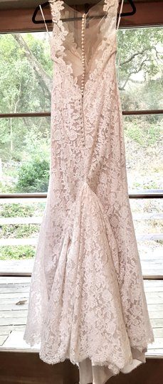BHLDN Ivory/Champagne Lace Carson Gown Feminine Wedding Dress Size 4 (S) Image 3