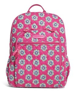 Vera Bradley Campus Lunchbag Pinkswirlsflowers Floral Backpack