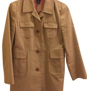 Ann Taylor Spring Lightweight Raincoat Decorative Stitching Trench Coat