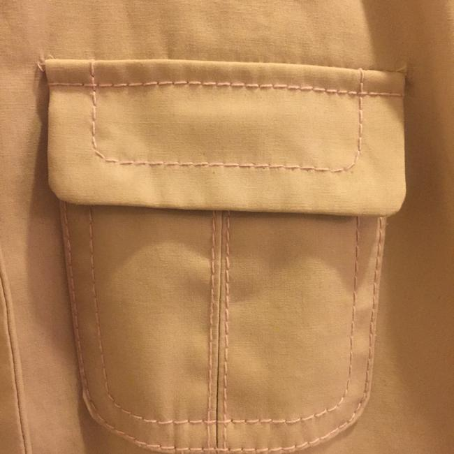 Ann Taylor Spring Lightweight Raincoat Decorative Stitching Trench Coat Image 2