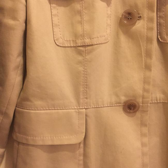 Ann Taylor Spring Lightweight Raincoat Decorative Stitching Trench Coat Image 3