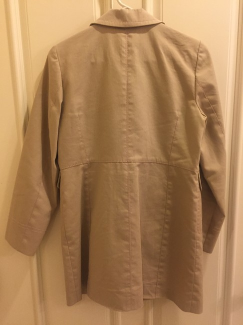 Ann Taylor Spring Lightweight Raincoat Decorative Stitching Trench Coat Image 4