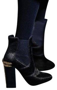 2a2b30eefc6 Tory Burch Navy Blue Theodora Pony Hair Ankle Boots Booties Size US ...