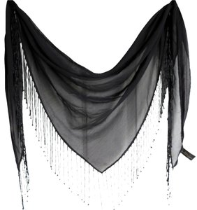 Baar & Beards TRIANGULAR BEAD BLACK SCARF