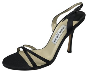 Jimmy Choo Slingback Heels Black Sandals