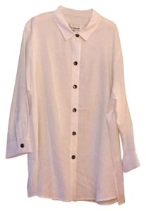 8376d51deb6 Caroline Rose Button Down Shirt white