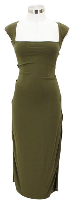 Item - Green Bodycon Mid-length Formal Dress Size 6 (S)