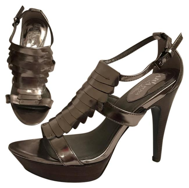 Item - Silver Maria Sharapova Sandals Platforms Size US 6 Regular (M, B)