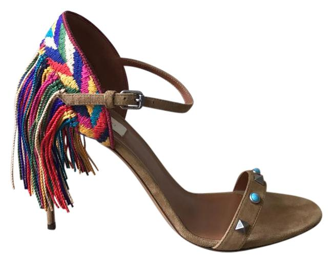 Item - Brown Red Blue Green Yellow Multi New Sandals Size US 9.5 Regular (M, B)