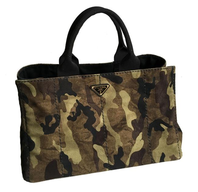 Item - Bag Canapa Camouflage Green Canvas Tote