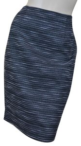 Nanette Lepore Tweed Pencil Straight Lined Skirt Gray