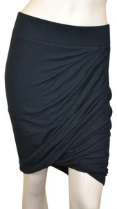 Helmut Lang Lined Bodycon New York Night Out Sexy Mini Skirt Gray