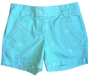 J.Crew Cuffed Shorts green/blue