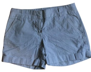 J.Crew Cuffed Shorts blue/white