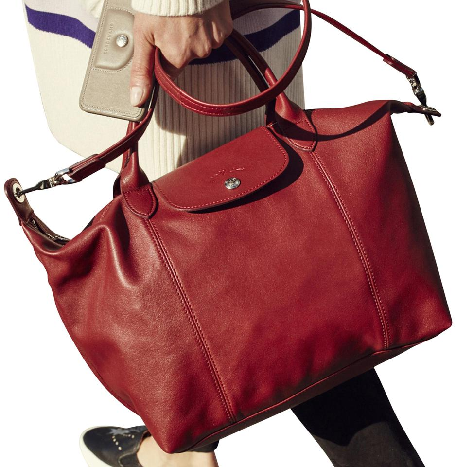 Longchamp Burnt Red Travel Bag