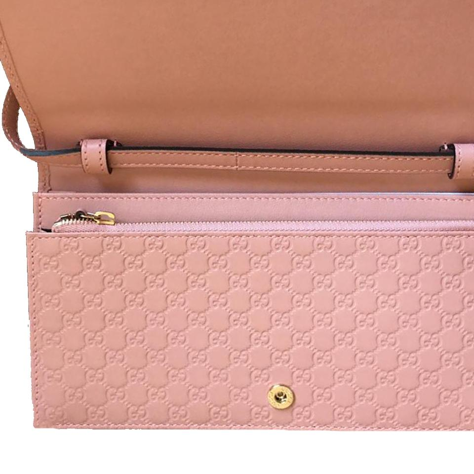 871e58e211ca Gucci Microguccissima Wallet 466507 Soft Pink Leather Cross Body Bag ...