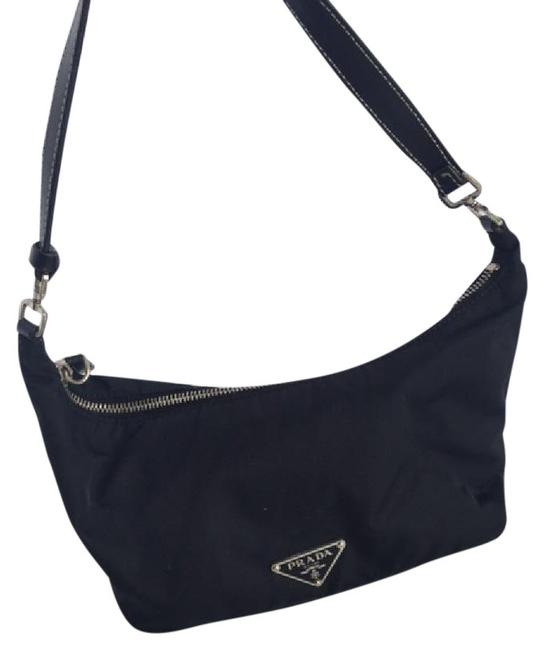 Item - Black and Silver Leather Nylon Tote