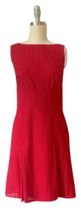 Chaps short dress Red Eyelet on Tradesy