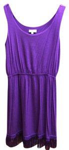 Joseph Abboud short dress Purple Fringe Hem Sleeveless on Tradesy