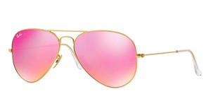 Ray-Ban Gold Aviator w/ Pink Mirror Lens RB 3025 112/4T -FREE 3 DAY SHIPPING