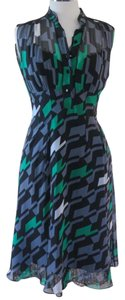 Diane von Furstenberg Vintage Silk Lace Lace Trim Dress