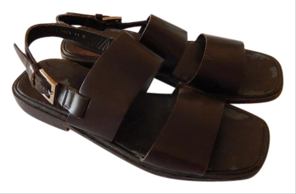 4e924c278 Gucci Brown Men s All Leather Italian 11d (Usa) Sandals Size US 11 ...