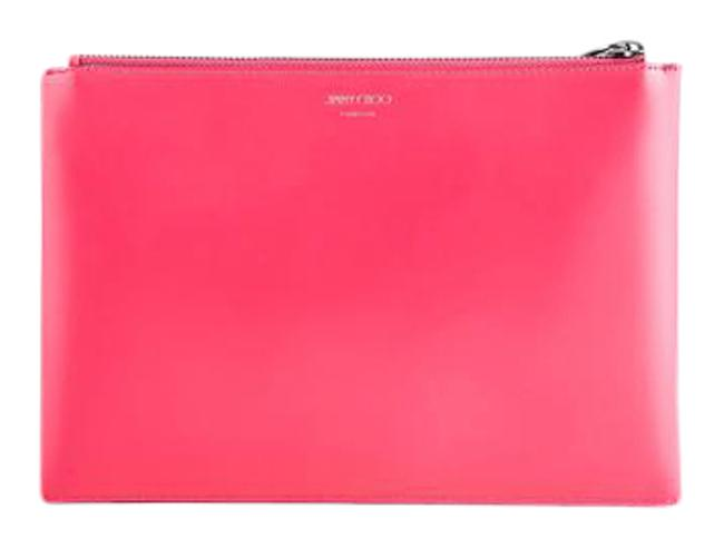 Item - Pink Lindy Dahlia Spazzolato Leather Pouch