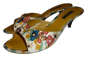 Louis Vuitton FLORAL MULTI COLOR CANVAS Mules