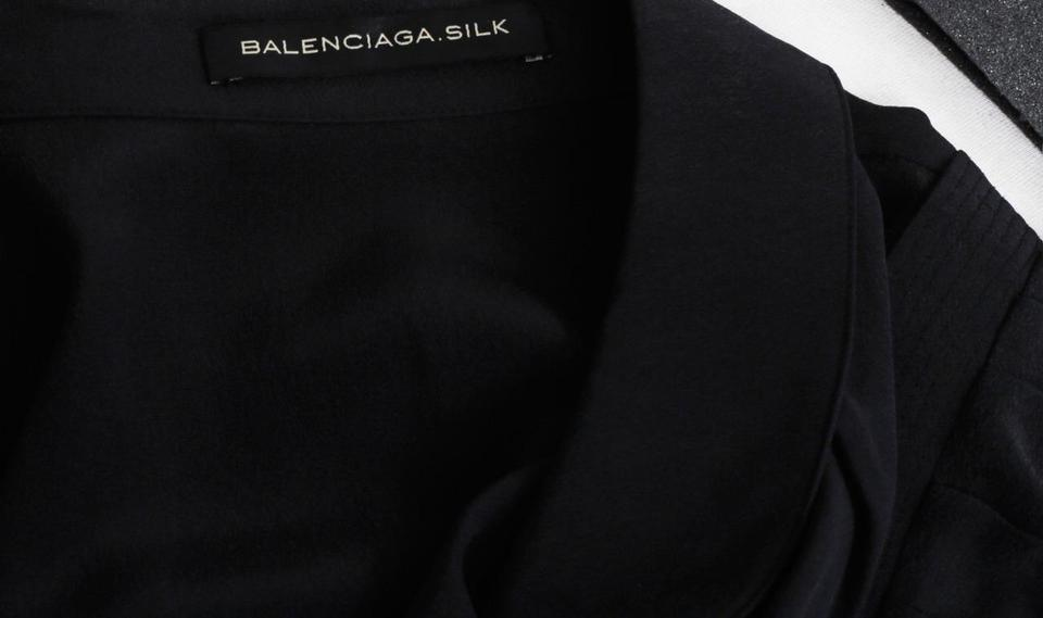 2b80a9cf744d Balenciaga Black Puff Long Sleeve Button Shirt Blouse Size 8 (M) - Tradesy